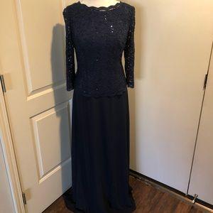 Navy Blue sequin dress size 10- Alex evening